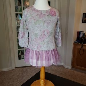 Pippa and Julie Top for girls size 6 Pink/gray